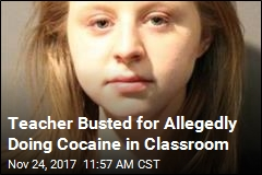 Snow Day: Teacher Arrested for Allegedly Doing Coke at School