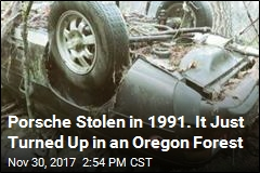 Porsche Appears in Forest 27 Years After Being Stolen