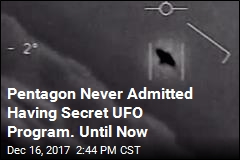 Pentagon Acknowledges Secret UFO Program