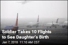 Soldier Takes 10 Flights to See Daughter's Birth