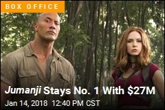 Jumanji Is Tops Again, With The Post a Distant Second