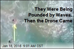 A 'Historic' Rescue in Heavy Surf, Thanks to a Drone