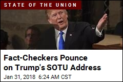 Fact-Checkers Pounce on Trump's SOTU Address