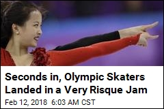 Seconds in, Olympic Skaters Landed in a Very Risque Jam