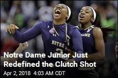 Notre Dame Junior Just Redefined the Clutch Shot