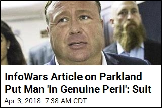 Man Sues Alex Jones Over Claim He Was Parkland Shooter
