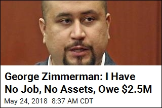 Zimmerman Gets Public Defender, Claiming $2.5M Debt