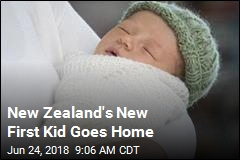 New Zealand's New First Kid Goes Home