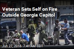 Veteran Sets Self on Fire Outside Georgia Capitol