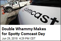 Double Whammy Makes for Spotty Comcast Day