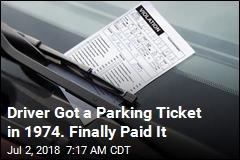 Driver Got a Parking Ticket in 1974. Finally Paid It