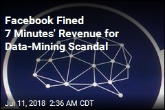 Facebook Fined 7 Minutes' Revenue for Data-Mining Scandal