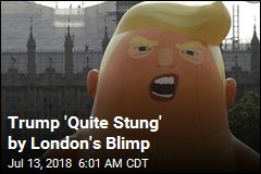 Trump 'Quite Stung' by London Blimp