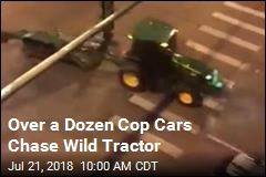 Officers Hurt in Odd Tractor Chase