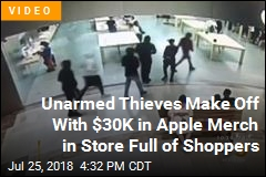 Brazen Thefts Rock Apple Store, Lululemon