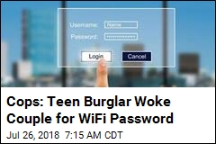Cops: Teen Burglar Woke Couple for WiFi Password