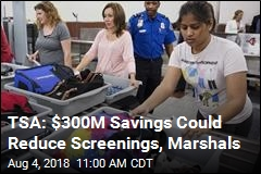 TSA: $300M Savings Could Reduce Screenings, Marshals
