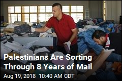 Palestinians Are Sorting Through 8 Years of Mail
