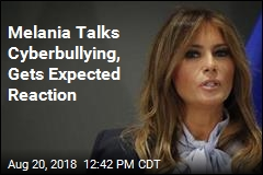 Melania's Cyberbullying Remarks Get Obvious Reaction