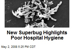New Superbug Highlights Poor Hospital Hygiene