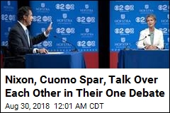 Nixon, Cuomo Spar, Talk Over Each Other in Their One Debate