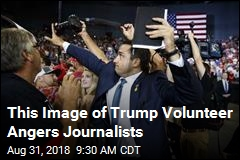 This Image of Trump Volunteer Angers Journalists