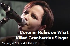 Coroner: Dolores O'Riordan Accidentally Drowned