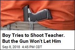 12-Year-Old Tries to Shoot Teacher, But the Safety Is On
