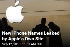 New iPhone Names Leaked, and the Leaker Is Apple