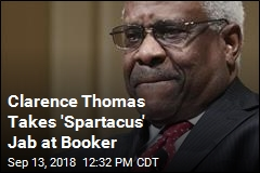Clarence Thomas Gets in a 'Spartacus' Jab at Cory Booker