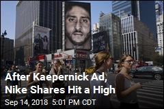 After Kaepernick Ad, Nike Shares Hit a High