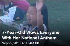 7-Year-Old Wows Everyone With Her National Anthem