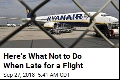 Here's What Not to Do When Late for a Flight