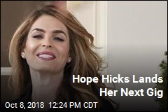 Hope Hicks Lands Her Next Gig