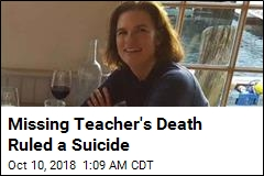 Missing Teacher's Death Ruled a Suicide
