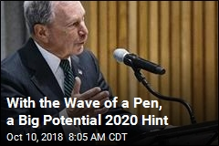 With the Wave of a Pen, a Big Potential 2020 Hint