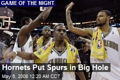Hornets Put Spurs in Big Hole