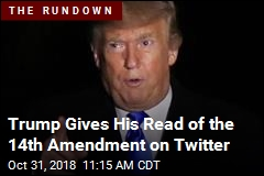 Trump Wrangles With the 14th Amendment on Twitter