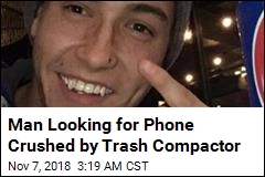 Man Looking for Phone Crushed by Trash Compactor