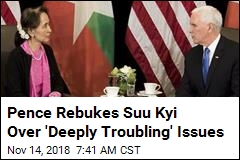 Pence to Suu Kyi: Persecution of Rohingya 'Without Excuse'