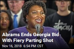 Abrams Ends Georgia Bid With Fiery Parting Shot