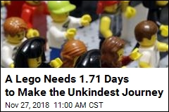 A Lego Needs 1.71 Days to Make the Unkindest Journey