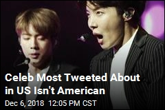 Most Tweeted About Celeb in US Isn't American