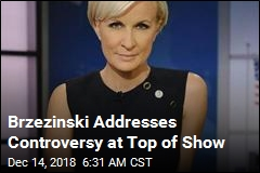 Brzezinski Addresses Controversy at Top of Show