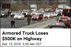 Armored Truck Loses $500K on Highway