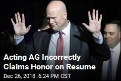 Acting AG Incorrectly Claims Honor on Resume