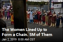 The Women Lined Up to Form a Chain. It Stretched 385 Miles