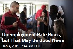 Unemployment Rate Rises, but That May Be Good News