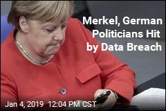 Merkel Among Hundreds of Politicians Hit by Data Breach