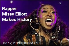 Rapper Missy Elliott Makes History